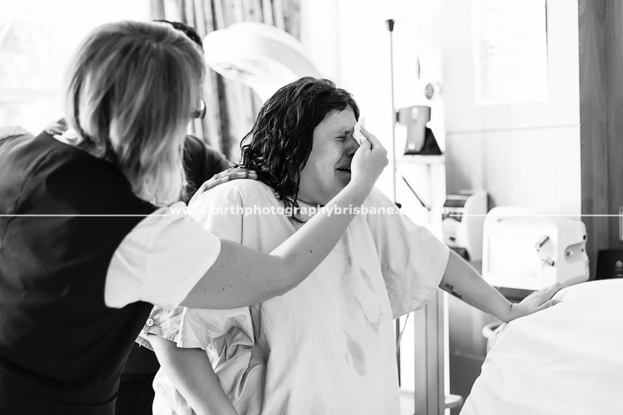 , Brisbane Birth Photographer – Bronwyn's Birth Story – Redlands Hospital, Brisbane Birth Photography