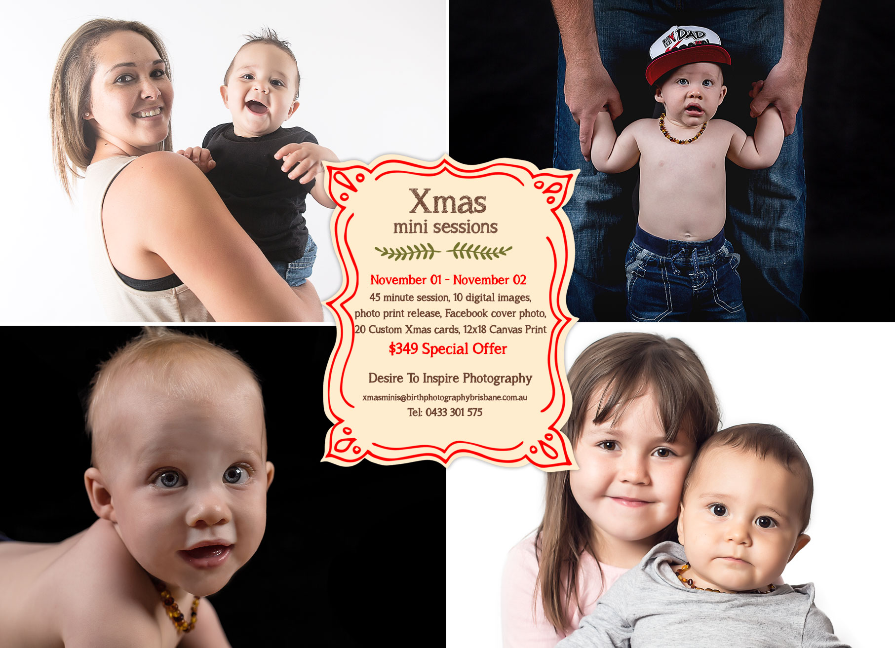 , Brisbane Portrait Photographer – Xmas Mini Sessions, Brisbane Birth Photography