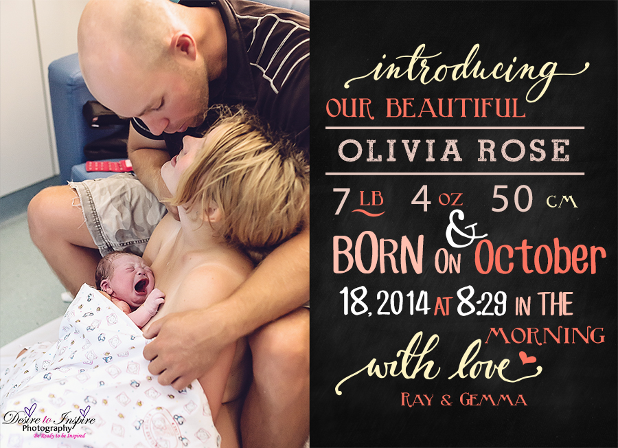 Olivia's Birth Announcement