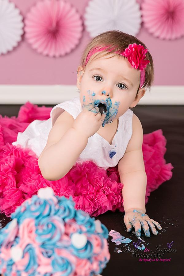 Brisbane Cake Smash Photography – Amelya's 1st Birthday Cake Smash, Brisbane Birth Photography