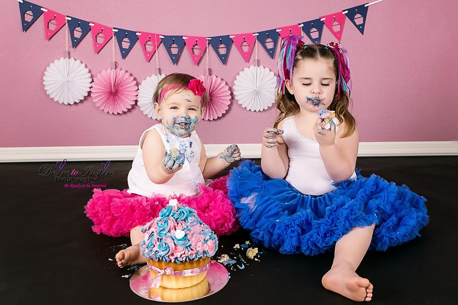 , Brisbane Cake Smash Photography – Amelya's 1st Birthday Cake Smash, Brisbane Birth Photography
