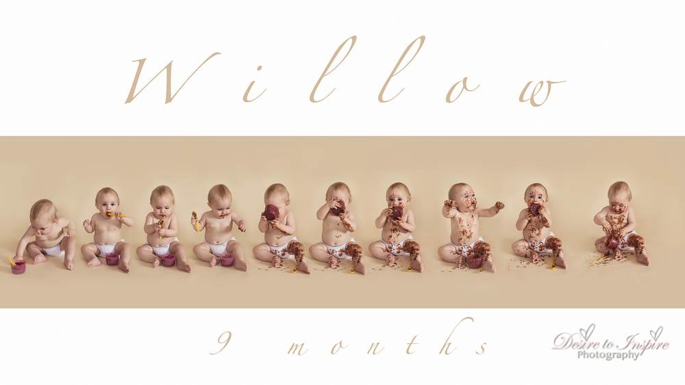 Brisbane Baby Milestone Photographer – Willow 9 months, Brisbane Birth Photography