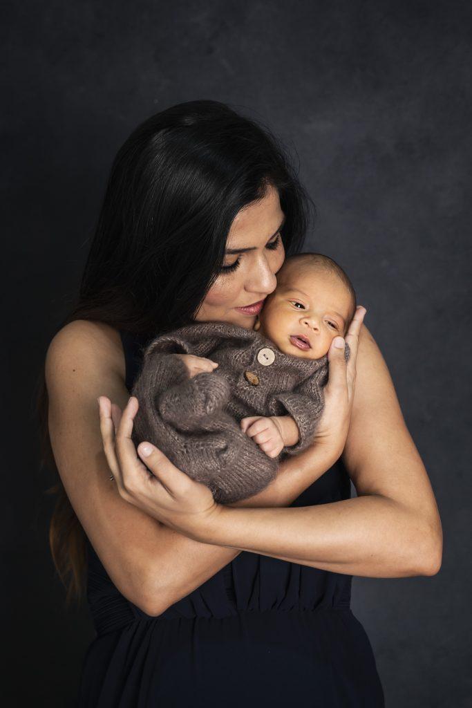 Pooja Maternity and little Shinoy's newborn, Brisbane Birth Photography