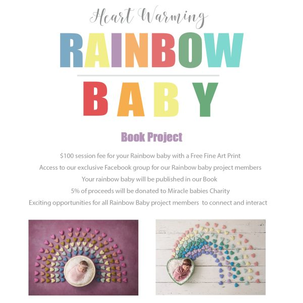 rainbow baby book project