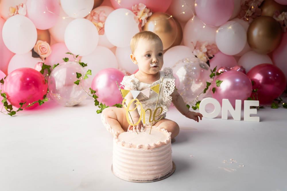 , Aubrey's Cake Smash – Desire to Inspire Photography, Brisbane Birth Photography